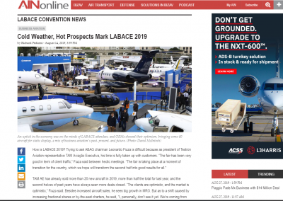 August 2019 – AINonline- Cold Weather, Hot Prospects Mark LABACE 2019